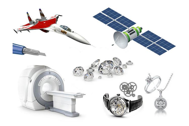 применение синтетических алмазов в различных отраслей