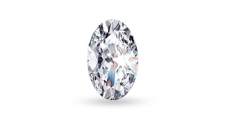 Классический бриллиант овальной огранки