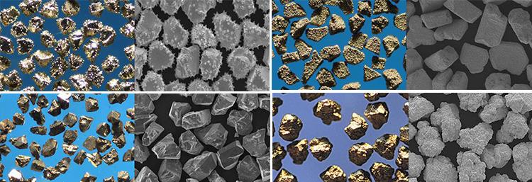 Покрытие на алмазные CBN порошки