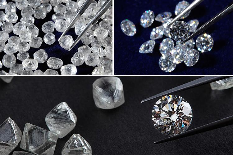 натуральные и синтетические алмазы