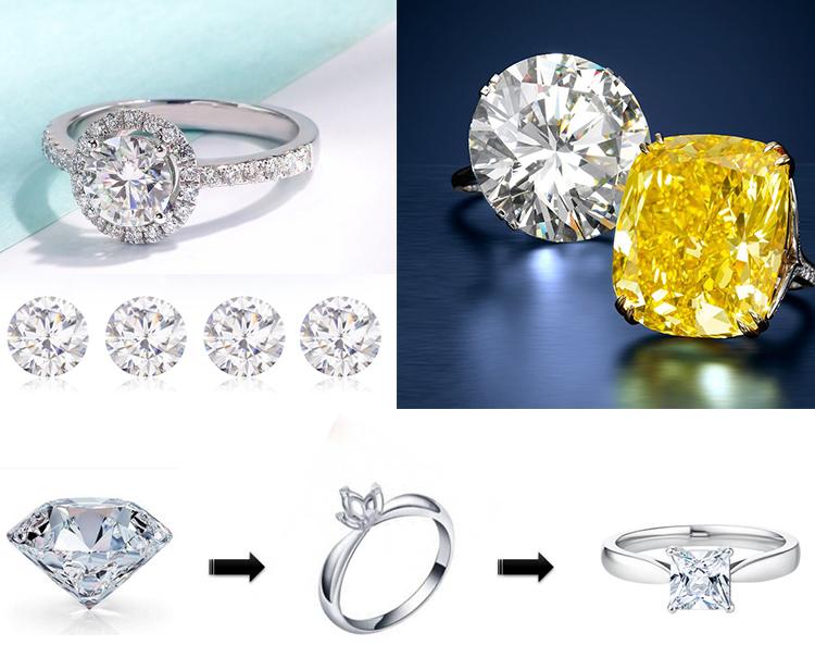 Крупные кольца с бриллиантами