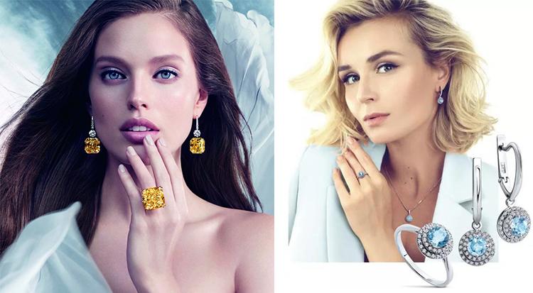 Алмазы на Модные украшения