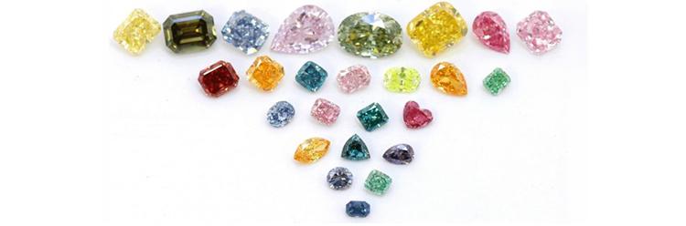 Натуральные цветные синтетические бриллианты