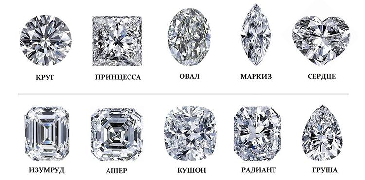 форма огранки фантазийных бриллиантов в продаже