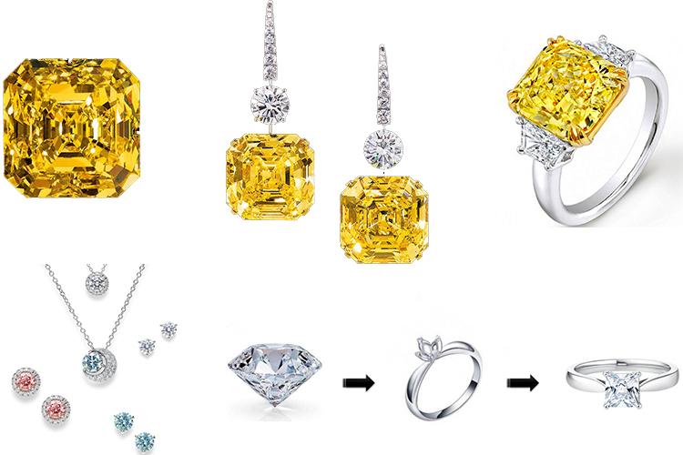 Крупные бриллианты для ювелиров и украшения